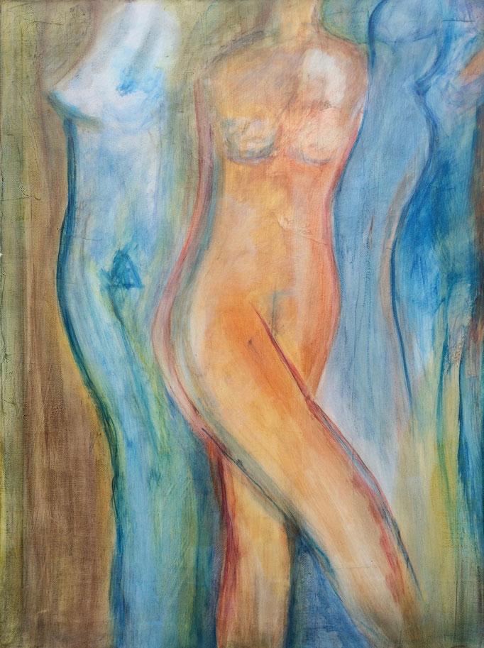 Akt II, Tempera, 60 x 80 cm