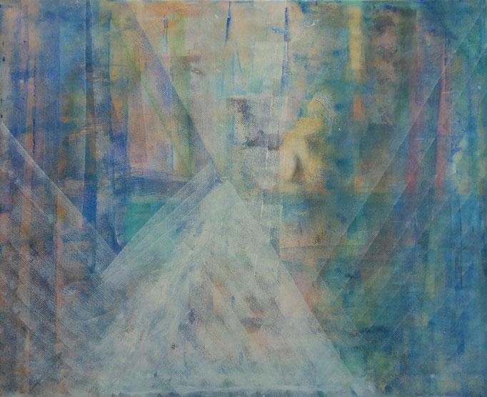 Geheimnis, Mischtechnik, 100 x 80 cm