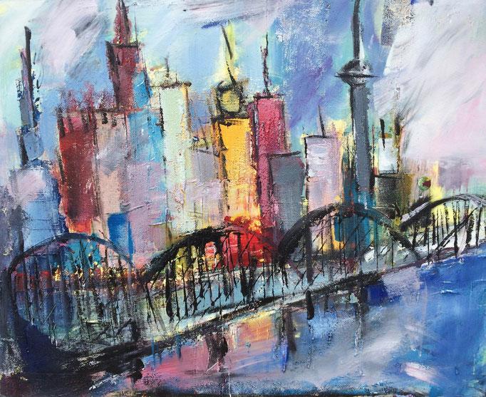 Skyline II, Acryl auf Leinwand, 100 x 80 cm