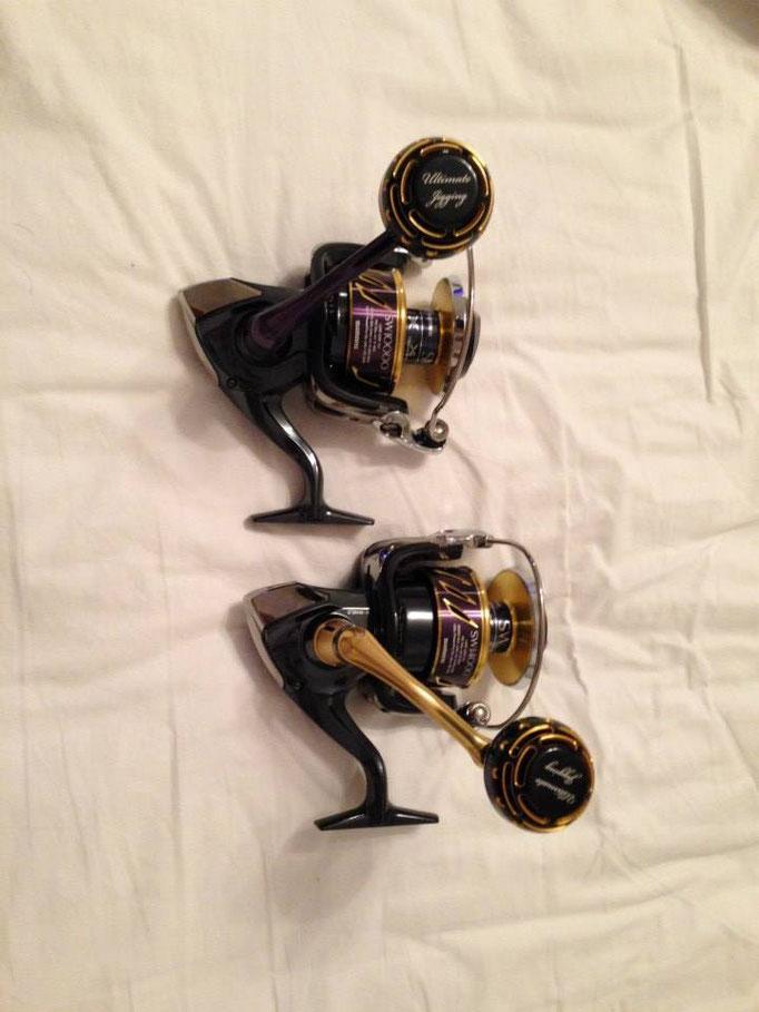 PRK 45mm II Knob vs 2013 Shimano Stella SW 20000 & 30000