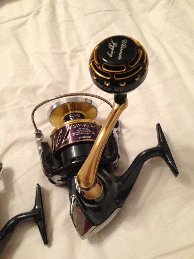 PRK 45mm II Knob vs 2013 Shimano Stella SW 14000