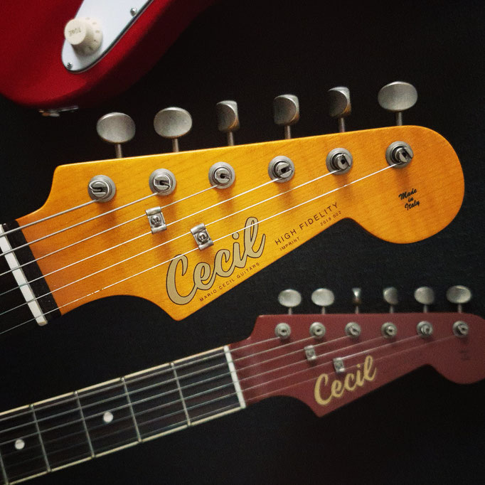 Cecil HF Headstock Imprint Serie