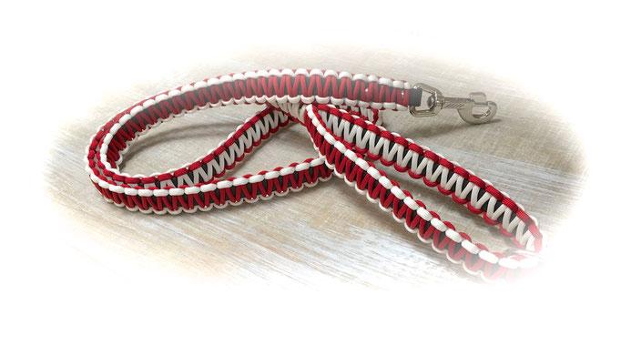 Standard-Leine (Farben: Imperial Red/White)
