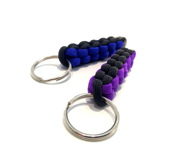 Electric Blue/Black und Acid Purple/Black