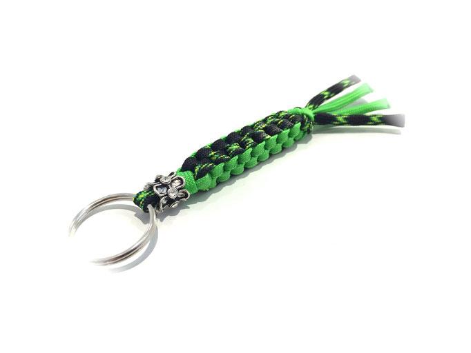 Spezial-Schlüsselanhänger mit Bead, Decay/Neon Green (Kundenwunsch; Herstellung auf Anfrage)