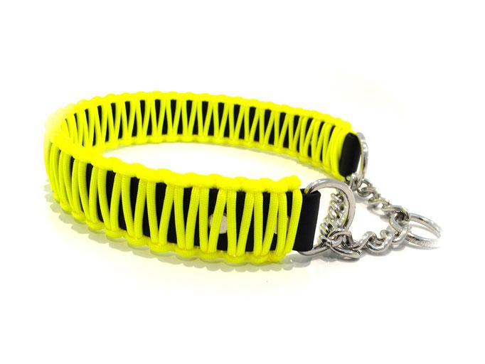 Neon Yellow mit Zugstoppkette Edelstahl