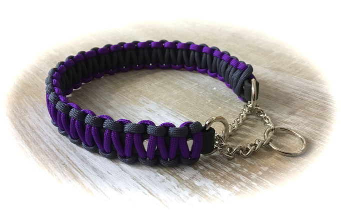 Acid Purple/Navy mit Zugstoppkette vernickelt