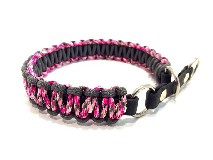 Pretty in Pink Camo/Charcoal Grey mit Biothane-Zugstopp