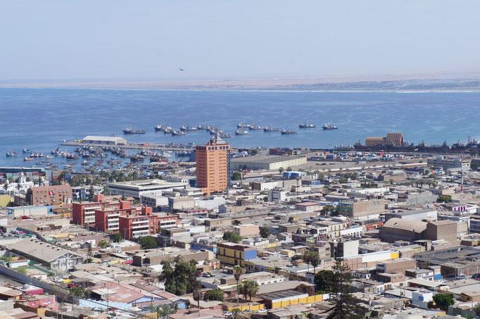 La ville d'Arica, au nord du Chili...