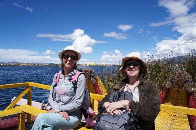 En route pour le îles Uros !
