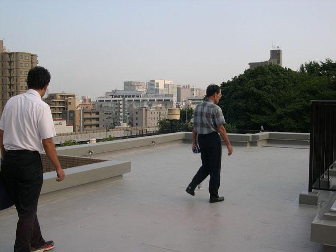 屋上 完了検査・オーナーと共に実施