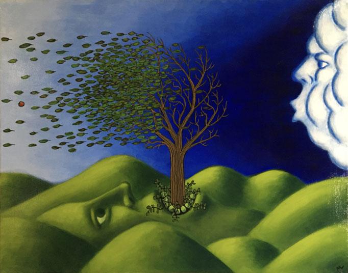 "Wind   (acrylic on canvas / 22x28"")"
