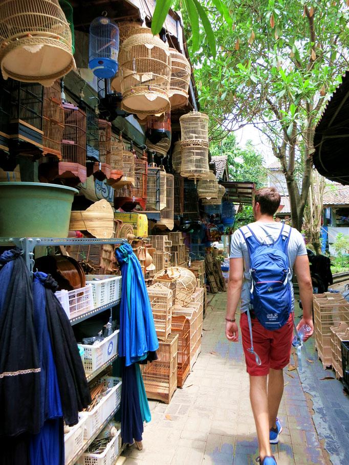 Vogelmarkt in Yogyakara