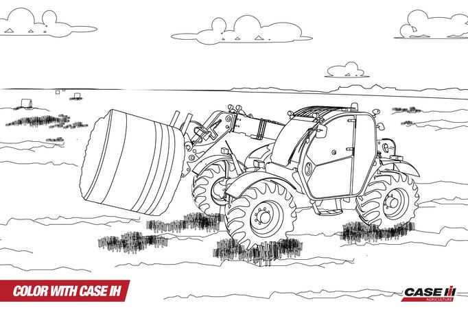 malvorlagen traktor case  tippsvorlage
