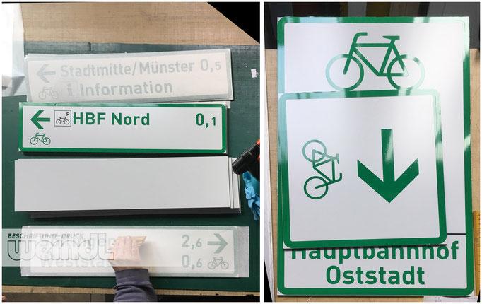 Straßen- und Radwegeschilder
