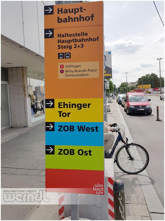 Infostehlen für die Stadt Ulm