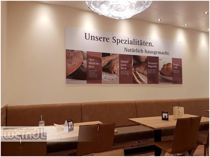 Schilder für einen Ulmer Bäcker