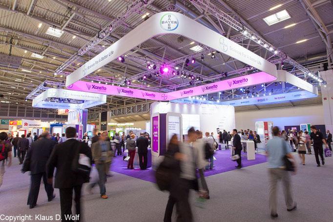 Messefotografie, Bayer Messestand im Rahmen des ESC Kongresses, Messe München