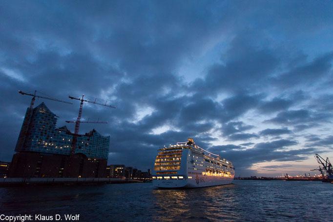 PR-Fotografie, Ersteinlauf MSC Lirica, Hamburg