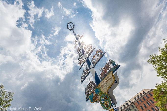 Maibaum Viktualienmarkt München, Reportagefoto im Rahmen eines Firmenevents