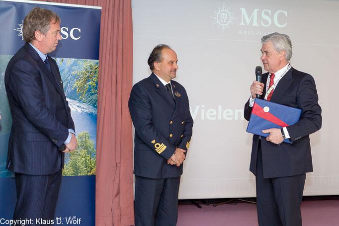 Pressefoto, Ersteinlauf MSC Lirica, Hamburg