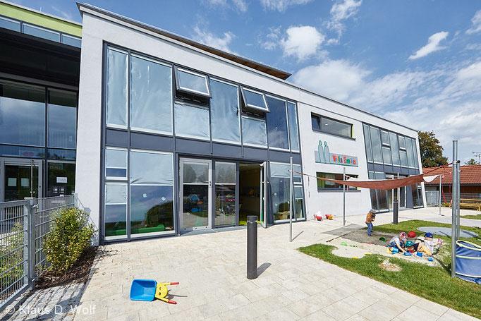 Architekturfotografie, Kinderhaus Villa Emilia Ebersberg, PR-Foto für die kjf München
