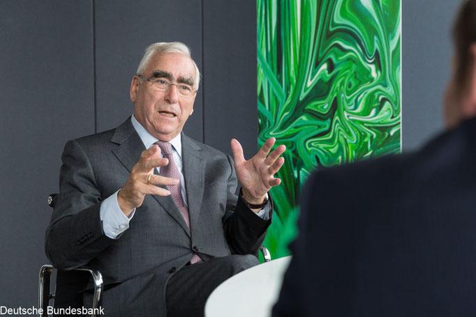 Theo Waigel für Bundesbank Magazin. Presseporträt: Klaus D. Wolf, Fotojournalist München