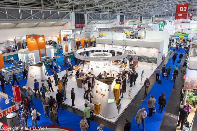 Messefotografie, Solarhybrid auf der Intersolar, Messe München