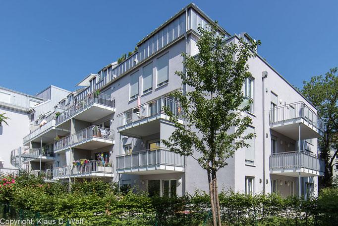 Immobilienfotograf München, PR-Fotos einer Wohnanlage für Alva-Wohnbau
