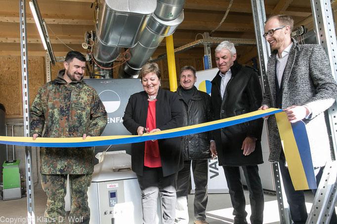 Unternehmensfotograf München, Pressefotos der Einweihung einer Vattenfall Biowärmeanlage