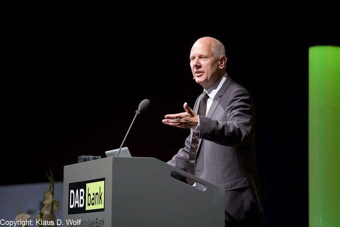 Veranstaltungsfotografie München, Zukunftsforscher Horx, DAB bank Investmentkongress
