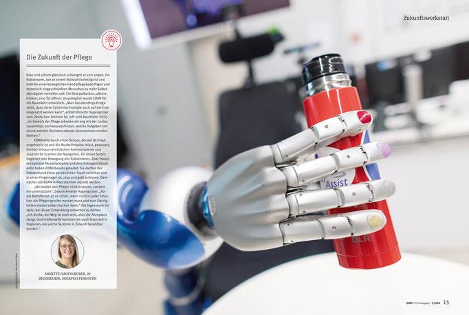 Fotojournalist München: Roboter im Deutschen Zentrum für Luft- und Raumfahrt (DLR), Oberpfaffenhofen