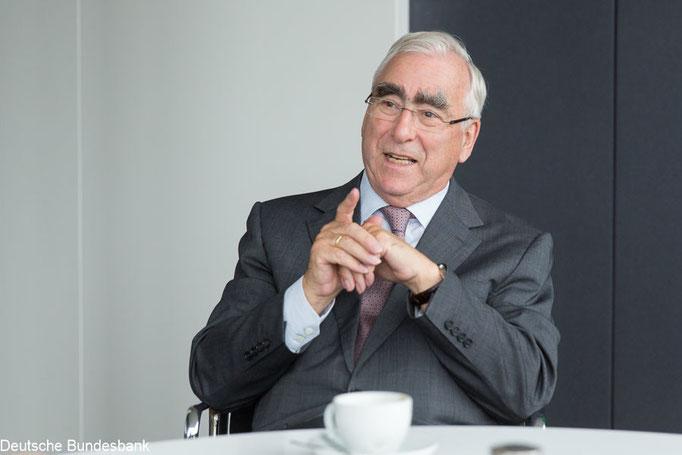 Theo Waigel für Bundesbank Magazin. Foto: Klaus D. Wolf, Bildjournalist München