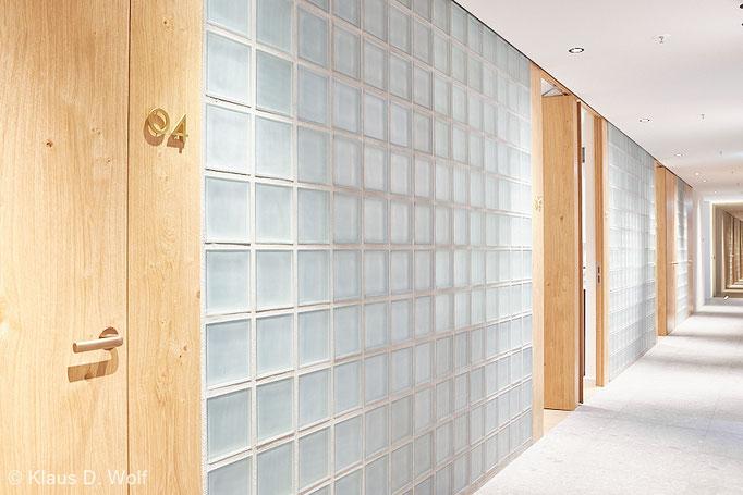 Architekturfotograf München, Interieurfotografie, Referenzfotos Glasbausteinwände
