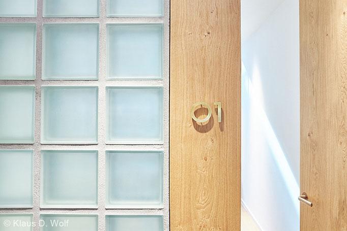 Architekturfotograf München, Glasbausteine, Interieurfotografie