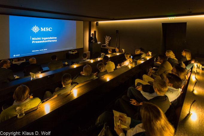 Veranstaltungsfotografie, Pressekonferenz MSC Kreuzfahrten, Bayerischer Hof, München