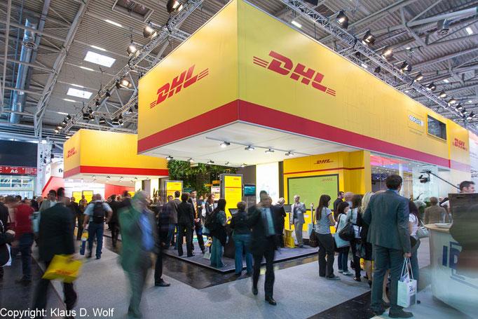 Messefotografie München, DHL Messestand auf der transport logistic