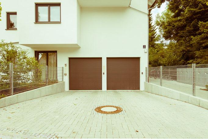 """Freies Projekt Archtekturfotografie""""1200 Garagen Menzing"""", Fotograf: Klaus D. Wolf, München"""