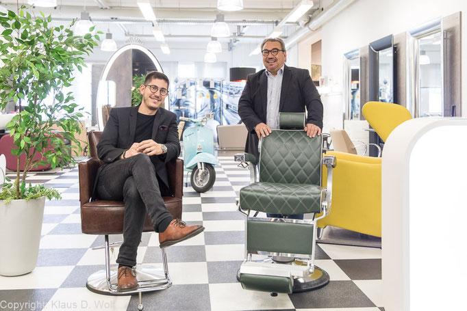 Fotojournalist München: die Geschäftsführung von Frikos Friseureinrichtungen für TOP HAIR Business