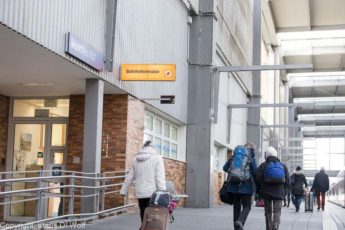 München Hauptbahnhof, Bahnhofsmission, Fotograf: Klaus D. Wolf