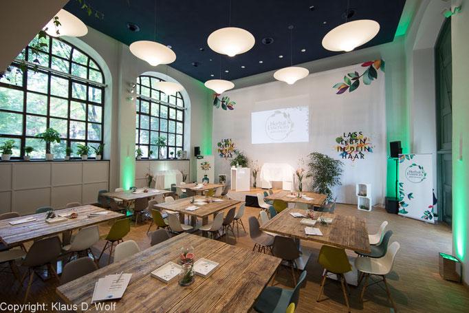 Eventfotograf München, P&G Beauty Presseevent, Cafe Mon, Architekturfotografie der Location