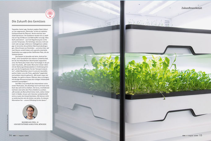 Bildjournalist München: Firmenreportage agrilution, Plantcube, Porträtfoto