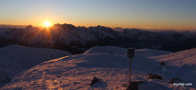 27.01.2018 17:20 Sonnenuntergang Hoher Göll