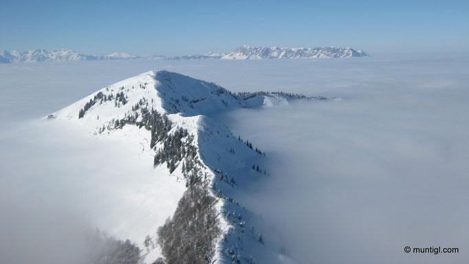 14.02.2010 12:48 Schmittenstein (Osterhorngruppe) - Blick zum Schlenken