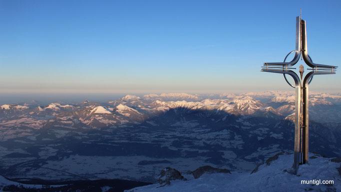 07.02.2015 16:49 Hoher Göll, Berchtesgaden (Blick auf die Osterhorngruppe)