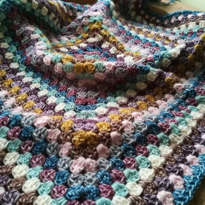 """Ma première """"granny square blanket"""""""