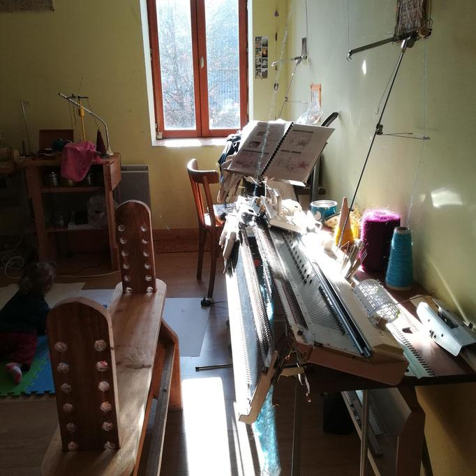 Mon atelier baigné de soleil