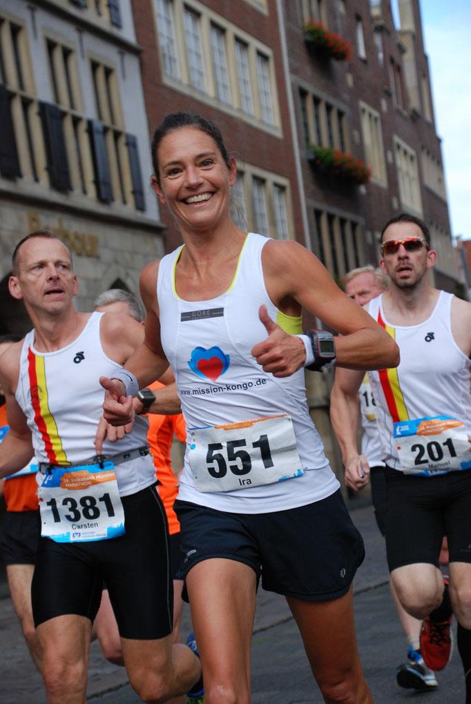 Laufend Helfen - Münster Marathon für verlassene Kinder im Kongo