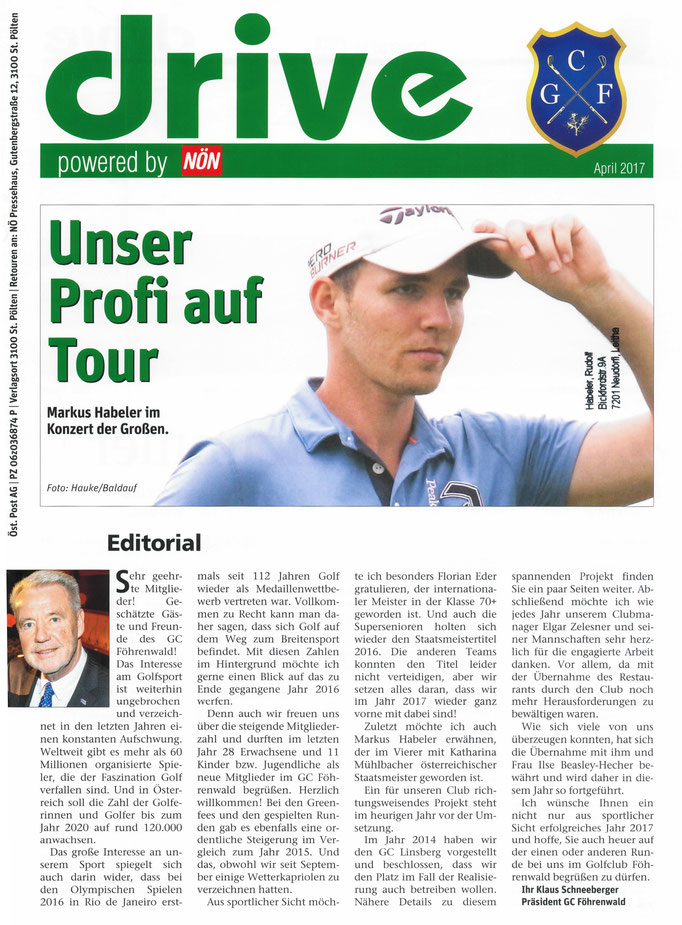 Drive Golfmagazin, April 2017