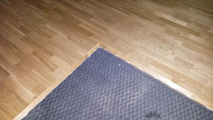 Abschlußkante Boflex-Boden zur Fußmatte